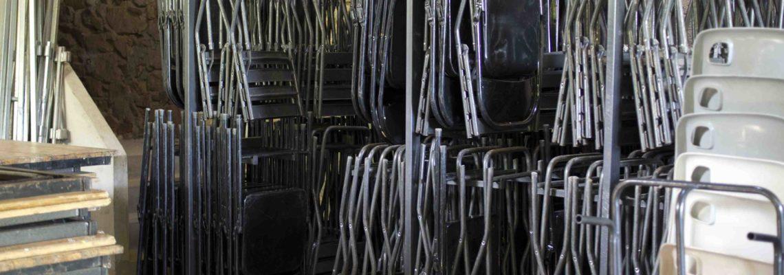 250 chaises métalliques pliantes
