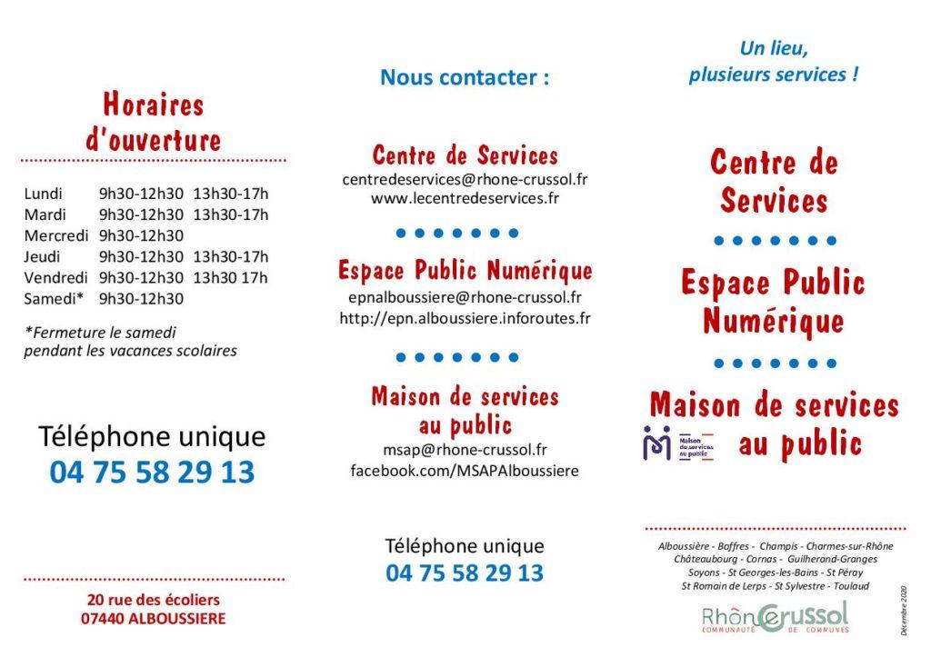 Présentation centre de services - EPN - MSAP Alboussière